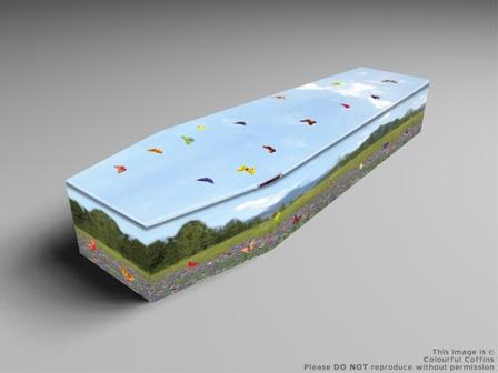 Summer Meadow Coffin