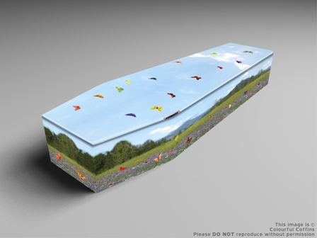 Summer Meadow Coffin